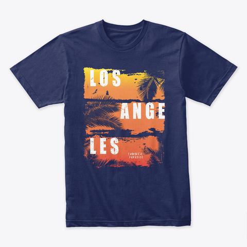 Los Angeles Summer Paradise Midnight Navy T-Shirt Front