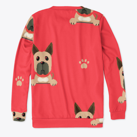 Red Cute Great Dane Sweatshirt Standard T-Shirt Back