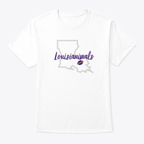 Louisianimals 2.0 White T-Shirt Front