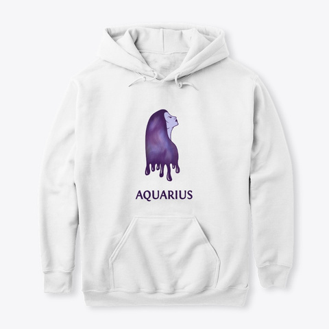 Her Aquarius Universe (With Text) White Sweatshirt Front