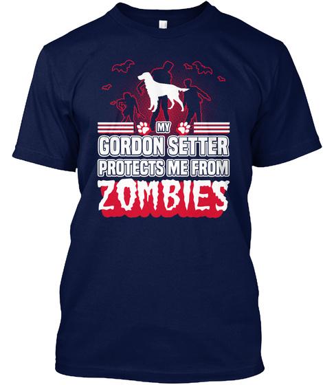 Gordon Setter Navy T-Shirt Front