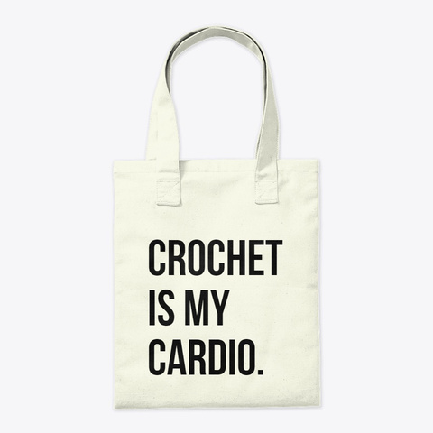 Cardio Tote Bag Natural T-Shirt Back