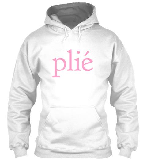 Plie White T-Shirt Front