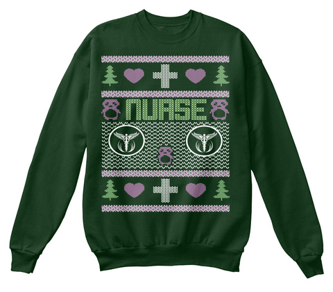 Nurse Deep Forest  T-Shirt Front