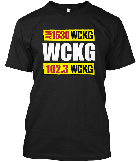 Am 1530 Wckg Wckg 102.3 Wckg Black T-Shirt Front