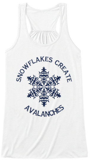 Create Avalanches White T-Shirt Front