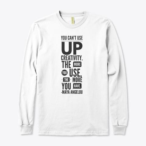 Creativity White T-Shirt Front