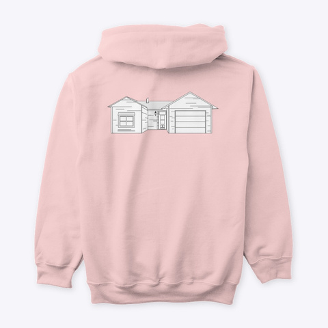Classic Burbs Hoodie   All Colors Light Pink Kaos Back