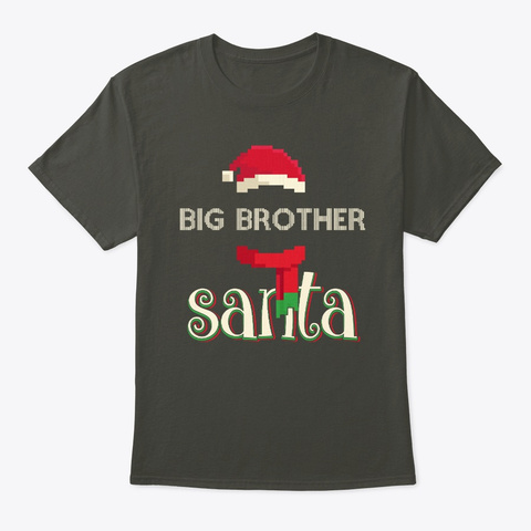 Big Brother Santa Clause Hat Pixel Chris Smoke Gray T-Shirt Front
