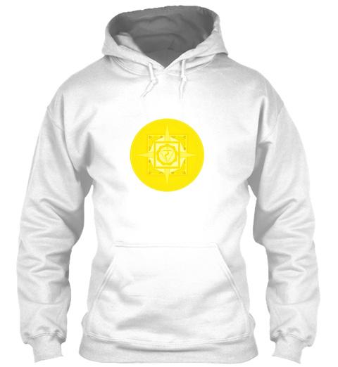 Unisex Hoodie Solar Plexus Chakra Manipura Arctic White T-Shirt Front