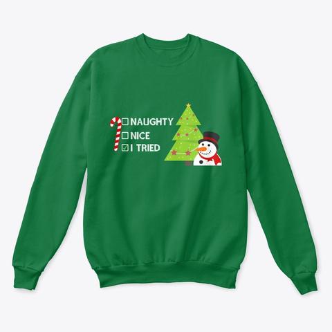 Funny Christmas Holiday Xmas Gifts  Kelly Green  Sweatshirt Front