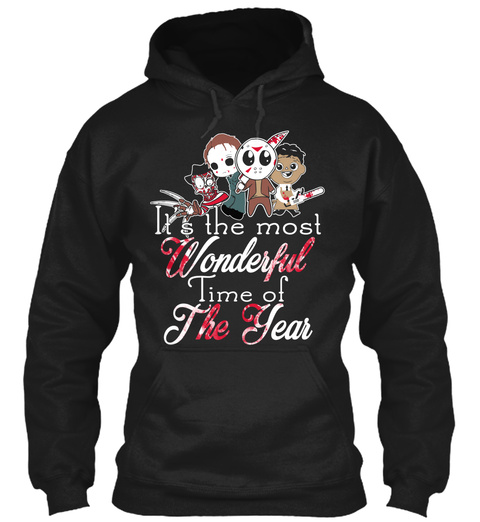 It's The Most Wonderful Time Of The Year Black T-Shirt Front