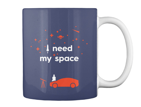 My Space Car Mug [Usa] #Sfsf Dk Navy Mug Back