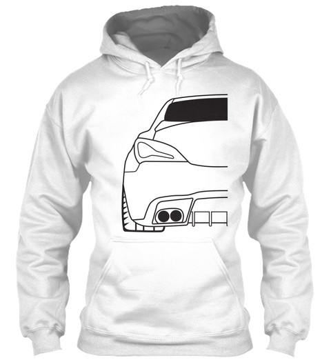 *New* Gen Coupe Hoodie White T-Shirt Front