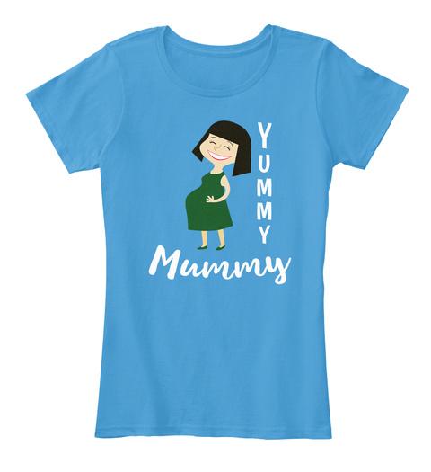 Yummy Mummy Azure T-Shirt Front