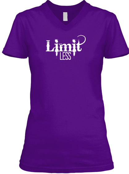 Limit Less Tee Team Purple  T-Shirt Front