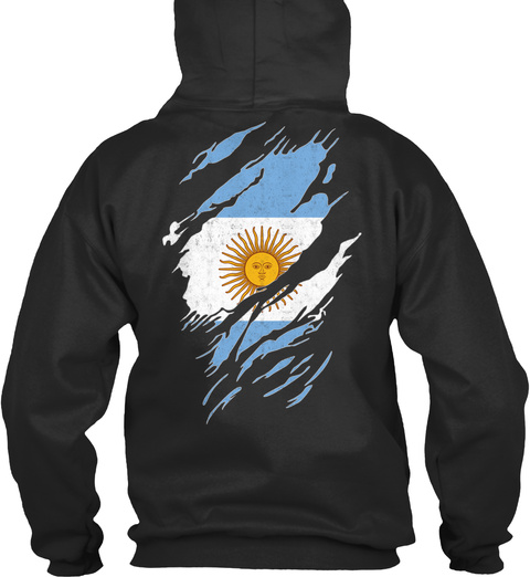 I Love Argentina 338 Jet Black T-Shirt Back
