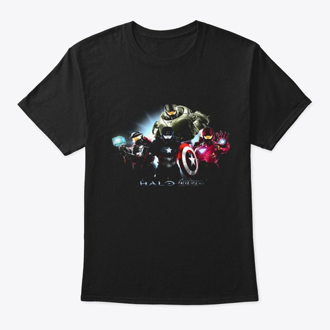 Hal0 Lovers T92 Black T-Shirt Front