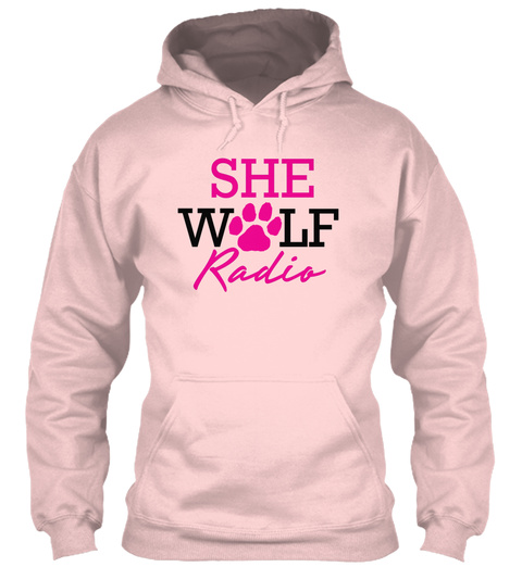 She Wolf Radio Light Pink T-Shirt Front