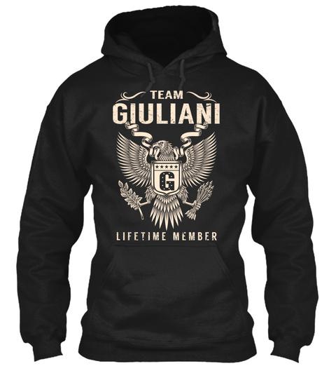 Team Giuliani G Lifetime Member Black T-Shirt Front