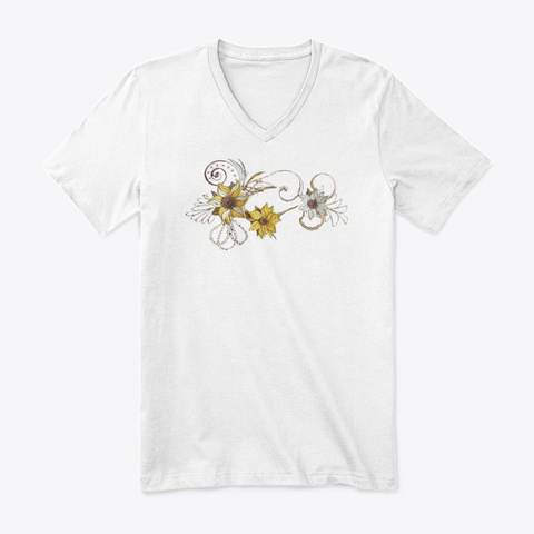 The Art White T-Shirt Front