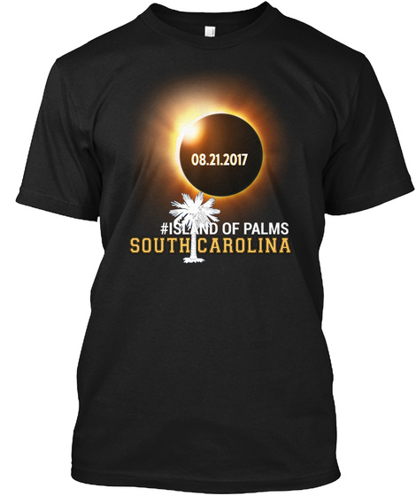 Eclipse Island Of Palms Sc. Customizable City Black T-Shirt Front