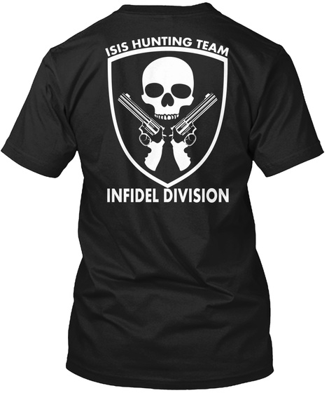 Isis Hunting Team   Limited Edition Black T-Shirt Back