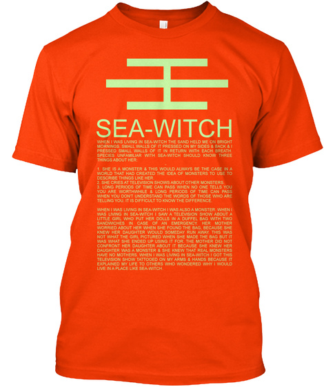 Sea Witch Orange T-Shirt Front