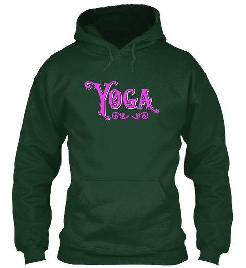 Yoga Pink Forest Green T-Shirt Front