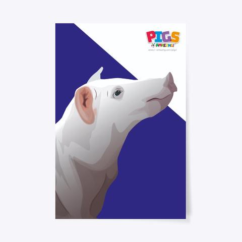 Loving Pig Poster Standard T-Shirt Front