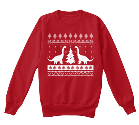 Dinosaur Christmas Sweater For Kids Products Teespring