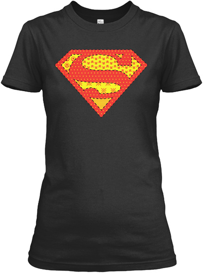 Super Quilter Black T-Shirt Front
