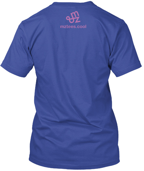 Rain Guys Deep Royal T-Shirt Back