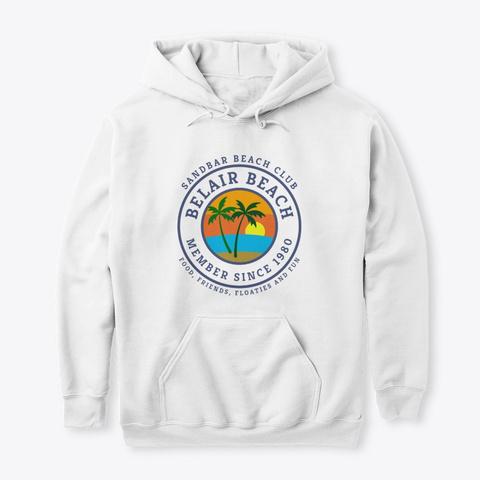 Belair Beach Sandbar Beach Club White T-Shirt Front