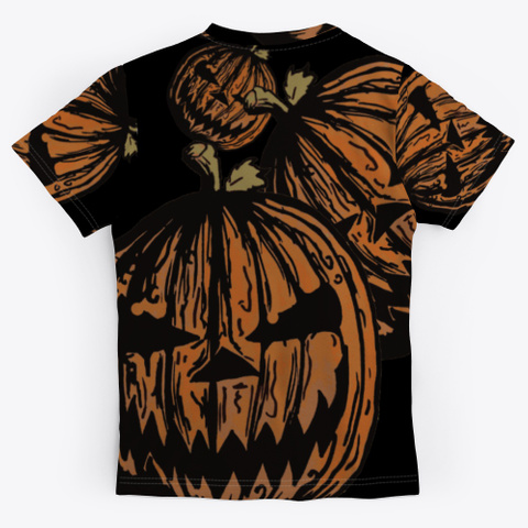 Wicked Jack O Lanterns | Halloween Party Black T-Shirt Back