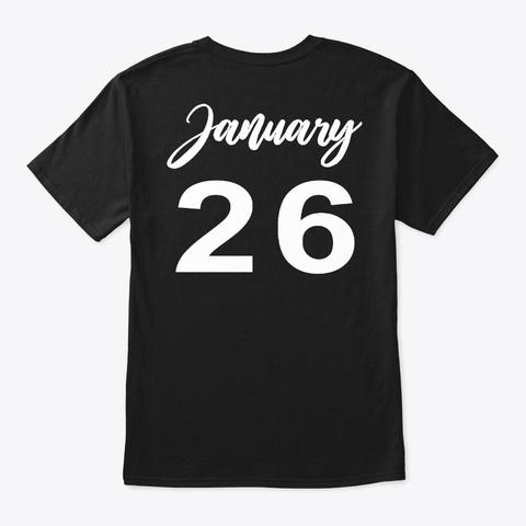 January 26   Aquarius Black T-Shirt Back