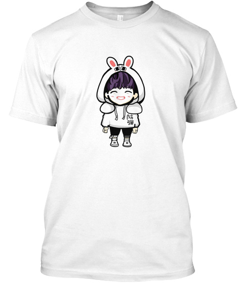 Cute Bts White T-Shirt Front