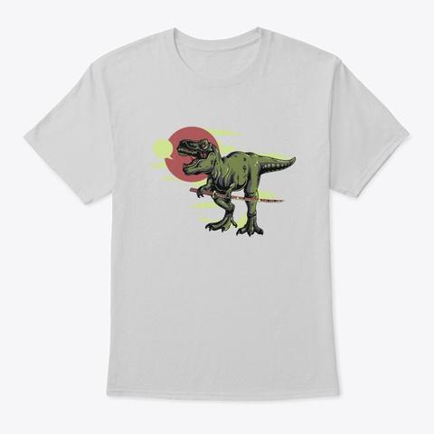 Dinosaur   Awesome Dinosaur Lover Gift Light Steel T-Shirt Front