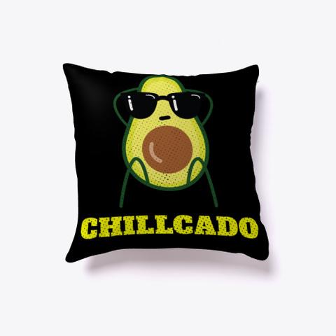 Avocado Chilled Fruit Vegetable Funny   Black T-Shirt Front