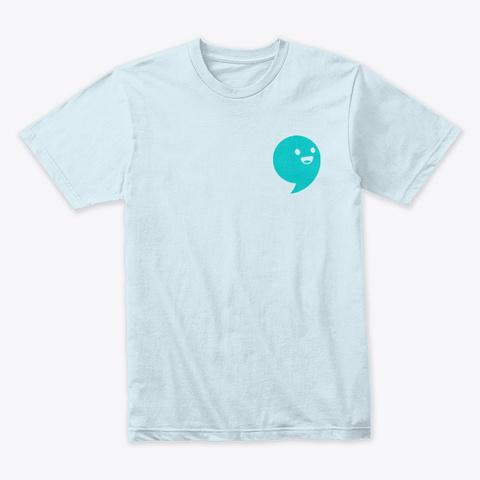 Commaful Light T Shirts Light Blue T-Shirt Front