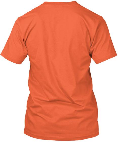 Watch Your Step, Spider Net  Neon Orange T-Shirt Back