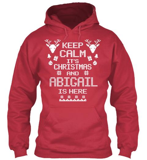 Keep Calm Abigail Christmas Cardinal Red T-Shirt Front