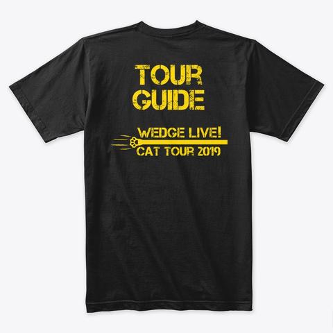 Cat Tour 2019! Black T-Shirt Back