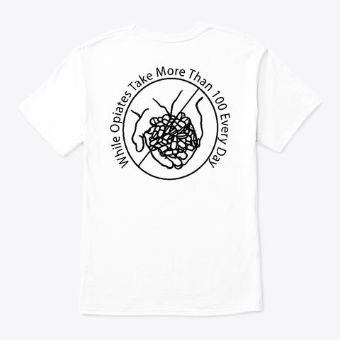 Cannabis Research White T-Shirt Back