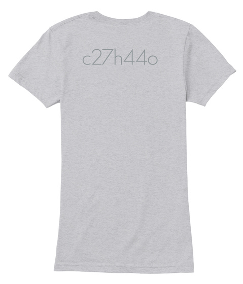 C27h44o Heather Grey T-Shirt Back