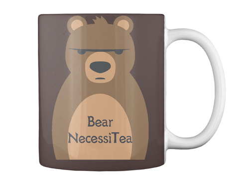 Bear Necessi Tea Dark Brown Mug Back