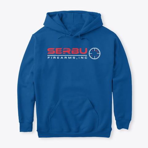 Serbu Logo Hoodie Royal T-Shirt Front