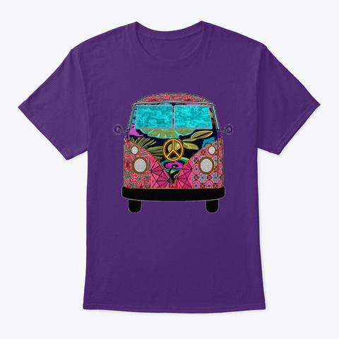 Pink Tropic Van Purple T-Shirt Front