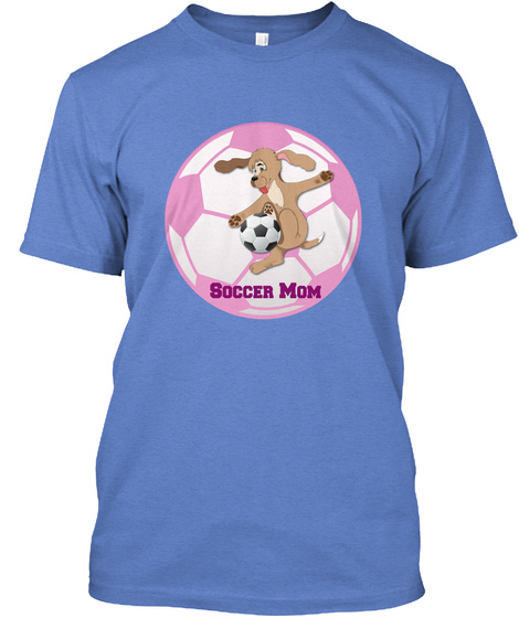 Critter Kin   Proud Soccer Mom Heathered Royal  T-Shirt Front