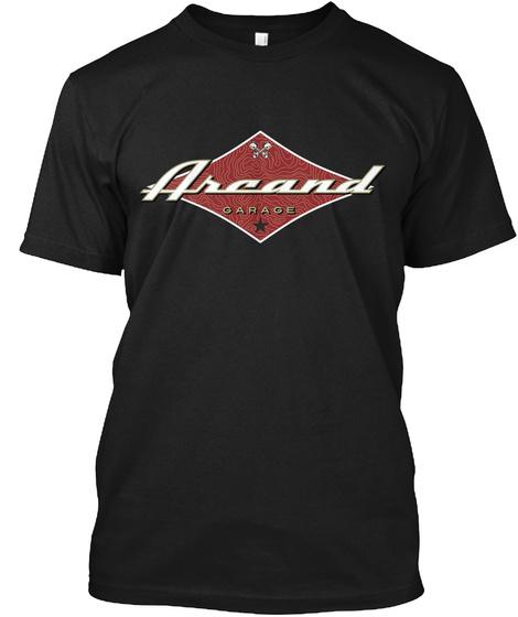 Arcand Hot Rod Garage Black T-Shirt Front
